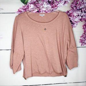 Splendid | Blush Pink Batwing Crop Top